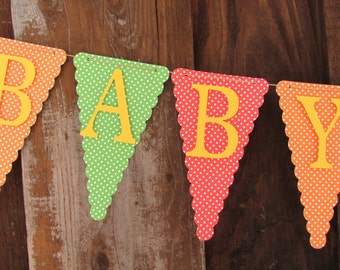 Baby Shower Banner, Baby Shower Decorations, Polka Dot Banner, Polka Dot Baby shower banner