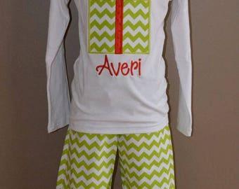 Custom Triple Ruffle Pants for Girls 0 - 8 Years Choose your Colors and Fabrics