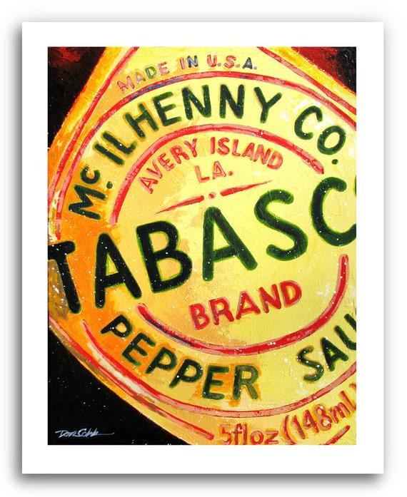 Tabasco Sauce Art Prints Signed And Numbered