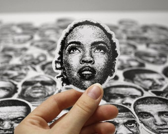 Scribbled Lauryn Hill - Vinyl Sticker