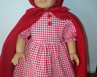 Red Riding Hood for American Girl like Doll