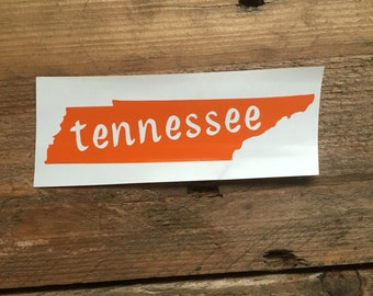 Tennessee Decal- Small State Sticker- Home Sticker