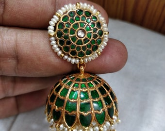traditional jhumka gold plated