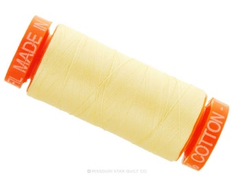 MK50 2110 - Aurifil Light Lemon Cotton Thread