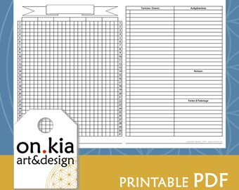 PRINTABLE Calendex leer für Bullet Journal - sofortiger digitaler Downlad