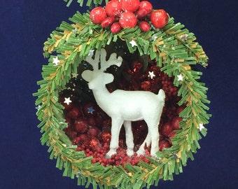 Christmas Ornament Diorama Deer
