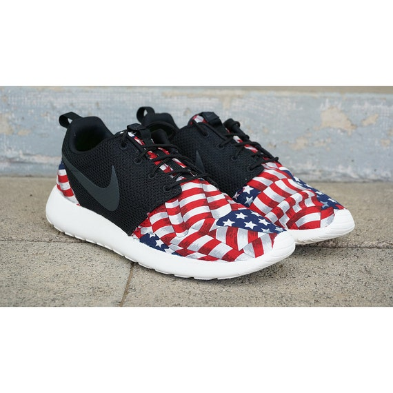 nike roshes red white and blue