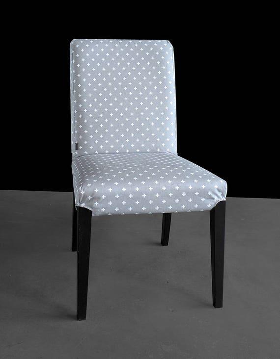 Gray Crosses Custom Ikea Henriksdal Dining Chair Cover