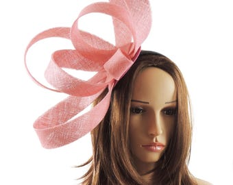 Kate - Candy Pink Fascinator Hat for Weddings, Races, and Special Events With Headband (40 colours)