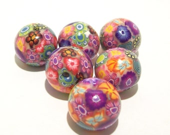 ON SALE NOW Flower Garden Beads Handmade from Polymer Clay