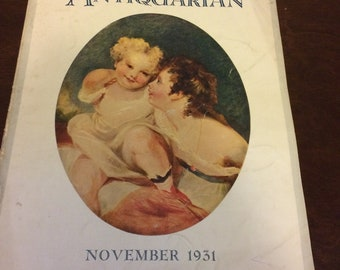 The Antiquarian magazine from November of 1931
