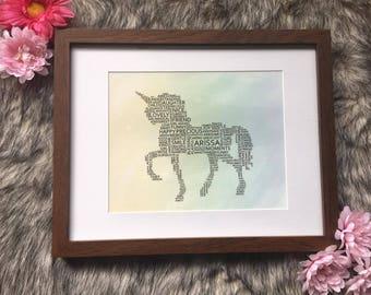 Custom Unicorn WordArt