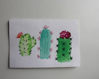 Customized Watercolor Cactus Painting