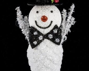 "10"" Snowman Pine Cone Hanging Ornament/Wreath Enhancement/Christmas Decor/23730"
