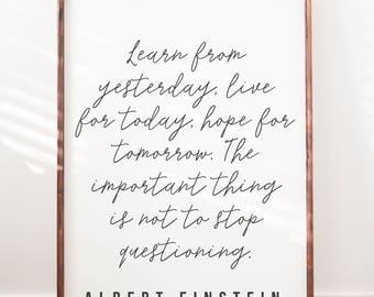 Albert Einstein Quote - Wood Sign