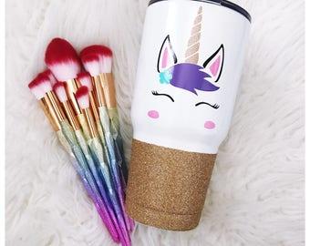 Majestic Unicorn Steel Tumbler - Glitter Tumbler - Glitter Dipped - Glitter Cup - Glitter Cup -Vacuum Insulated Mug - Unicorn - Unicorn Life
