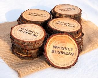 Custom Wood Slice Coaster, Custom Coasters, Business Logo Coasters, Personalized Coaster Wood slice Coasters for Wedding Tree Slice Coasters