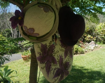 Merino Felted Hat and Bag