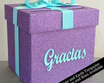 Card box with Sign- Choose Your Colors and Size