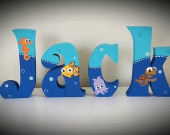 Shelf sitting letters Letter blocks Free standing name letters Custom Baby names. Kids free standing letters. Wood letters Wood kids Name