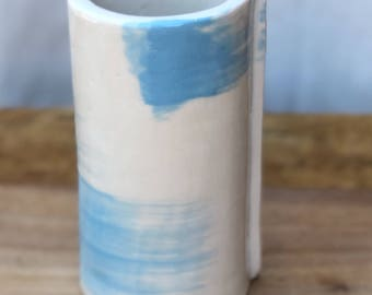 Hand painted tall Porcelain vase