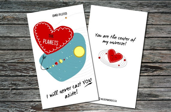 Mini Science Valentines Day Cards Set Of 12 | Biology Chemistry Astronomy |  Teacher, Friend, Student, Scientist, Professor, Engineer