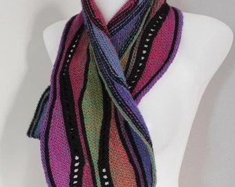 Swing knitting or crochet scarf for beginners - PDF Crochet pattern