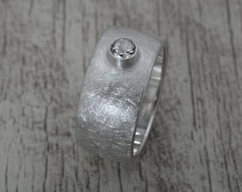Women's ring with topaz stone, 925 sterling silver