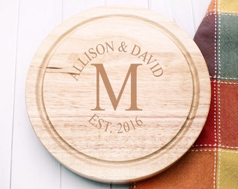 Single Monogram Personalized 5pc. Cheese Board Gourmet Set (ppdc1)
