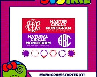 Master Circle SVG Circle Monogram SVG Monogram Frame SVG Commercial Free Cricut Files Silhouette Files svg cut files Cut File Bundle