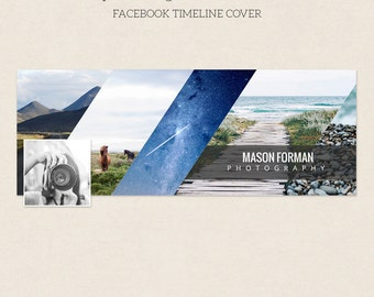 Facebook Timeline Cover - Facebook Timeline Template - PSD Template - Customize Facebook Page - Instant Download - F207