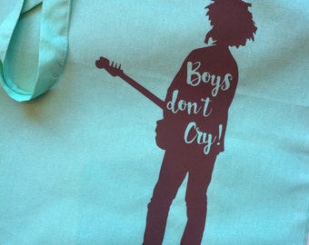 Boys dont't cry! • The Cure / Robert Smith lyric/quote | Totebag | Bag | Several Colors