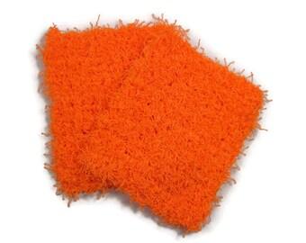 Bright Orange Pot Scrubbers Set of 2