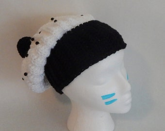SALE Crochet Slouchy Cookies n' Cream Cupcake Hat