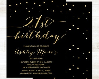 21st birthday invitations 21 birthday invitations twenty gold 21st birthday invitation black gold twenty first birthday invitation gold glitter birthday invitation printable 21st birthday invite filmwisefo