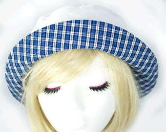 Reserved for Kay N: White Cotton Bucket Hat | Cool Archery Hat with Ventilation and No-Glare Brim