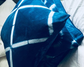 dyed with indigo cushion