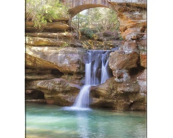 Waterfall Photography-Hocking Hills Photography-Fine Art Print-Ohio Photography-Color Photo-Living Room Wall Art-Vertical Print-16x24 Print