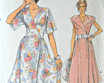 Very Easy Very Vogue 9282 Misses Dress pattern, sizes 6, 8, 10, Factory Folded Uncut, Vintage 1985, Sewing Pattern