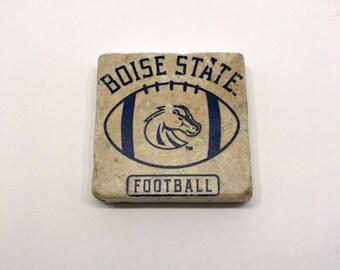 BSU Boise State - NCAA Handmade Stone Decorative Tile Magnet Gift by GalloGraffiti