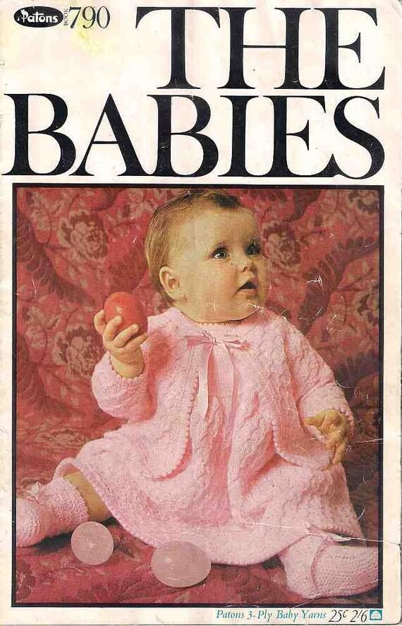 El libro de los bebés para hacer punto, 790 de los Patons, patrones ...