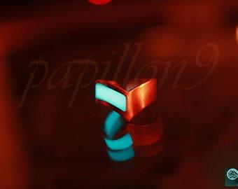 Copper Phalanx ring / Adjustable Midi Ring / GLOW in the DARK Ring / Phalanx ring - 02 / Midi Ring / Glow Midi Ring /