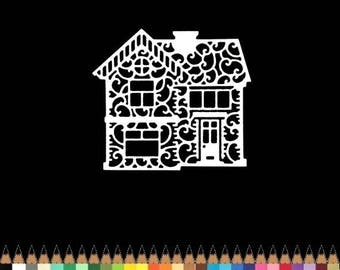 Cut out House cutout paper die cut creation embellishment scrapbooking