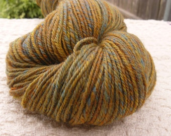 Handspun Sock Yarn 'Prairie' 290 yards Merino/BFL wool