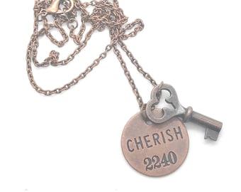 Cherish Long Key Necklace
