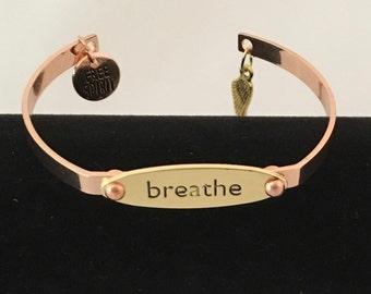 Breathe -  Bangle Bracelet
