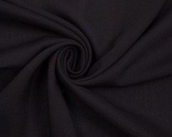Rayon Challis Fabric by the Yard - Black A3