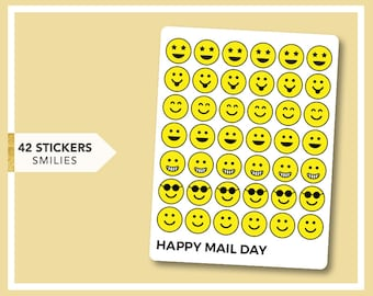 Smiley faced stickers
