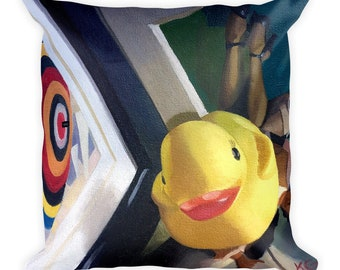 Rubber Ducky Square Pillow
