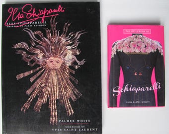 SALE 2 Schiaparelli Fashion Books, one by White, other by Baxter-Wright, Perfect Set on Schiaparelli Couture, French Fashion Designer